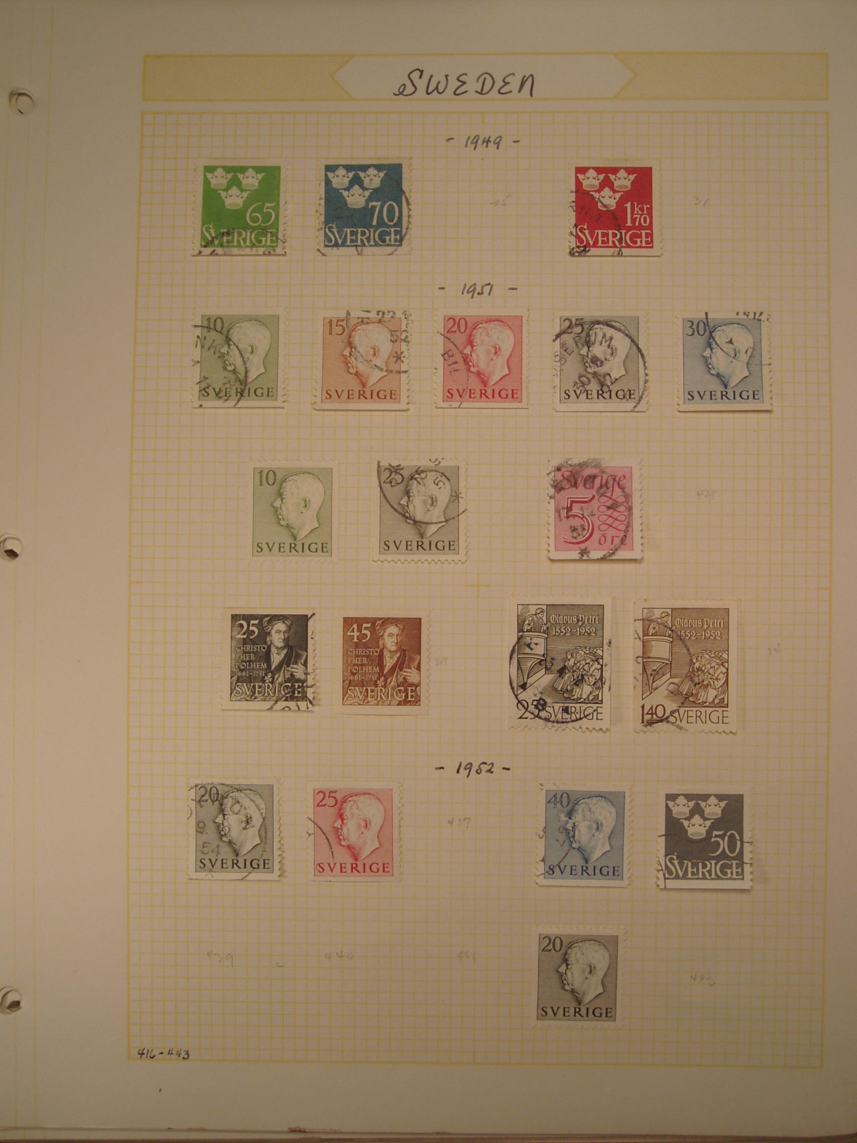 the tervo rare stamp collection  sweden